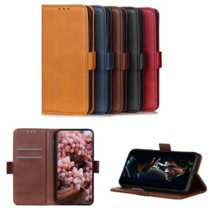 PU Leather Wallet Case Flip Cover with Button for iPhone 11 X 7 8 with Card Slot Stand Case Samsung HUAWEI Moto 5 Colors Optional