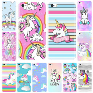 Soft TPU Case For iPhone 5 S 5C 5S SE Case Cute Rainbow Unicorn Silicone Phone Cases For iPhone 4 S 4S Cover