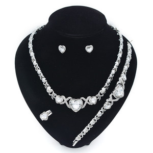 XO jewelry sets for women necklace gold bracelets big earring jewelries woman birthdays gifts