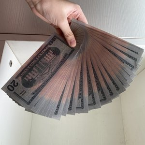 01 Wholesale Best Quality Prop money Fake 20 dollor Fake Money counting Kids money for movie film video Home Decoration