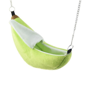 Small Pet Bed Banana Design Hamster Ferret Rat Squirrel Hammock Hanging Cage Nest Bed House Toys Small Animals Nest Pet Supplies