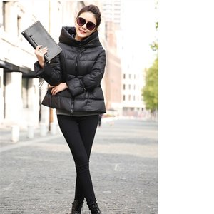 new short down coat stylish hooded womens winter jackets large size black red fashion hot sale Z1202