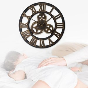 40cm Gear Industrial Style Quartz Wall Clock Sticker Living Room Decoration