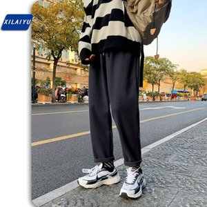 XILAIYU Qiu dong season straight leg young male han edition tide trousers for loose nine points wide-legged pants pants