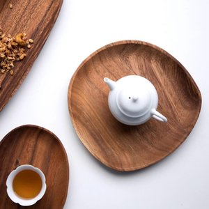1 Pc Lovesickness Wooden Plate Snack Tray Fruit Dishes For Restaurant Coffee Shop Hotel Bread Steak Dessert Dinner Tableware