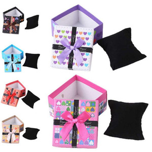 Colorful Bowknot Watch Box Organizer Carton Innovative Gift Packaging Jewelry Ring Box Gift Storage Case