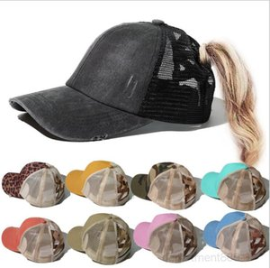 Baseball Cap Leopard Printing Solid Ball Cup Washable Mesh Suncreen Outdoor Caps Messy Buns Trucker Ponycaps Hat OWC3583