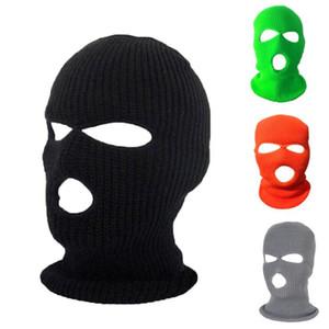 Gesichtsmaske Winddicht im Freien Masken Taktische Reiten Kopfbedeckung Atmungsaktive Balaclava Winter Warme Skihut Volle Gesichtsmasken 3 Loch Kopfbedeckung GWC4666