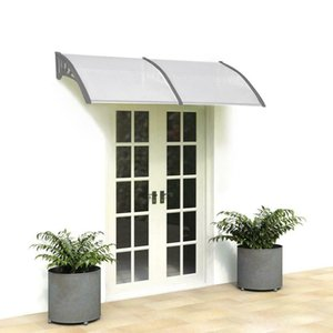 """DIY 40""""x 80"""" Outdoor Polycarbonate Front Door Window Awning Patio Cover Canopy"""