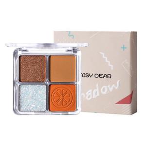 Cellacity 4 cores Pallete 4 cores sombras Paleta pigmentado Natal Eye Shadow Professional Glitter Maquiagem