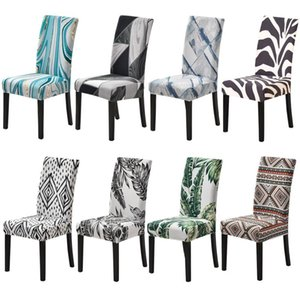 Spandex Stretch Dining Chair Cover Big Elastic Seat Covers Office Chair Slipcovers Restaurant Wedding Banquet Hotel 1 2 4 6PCS