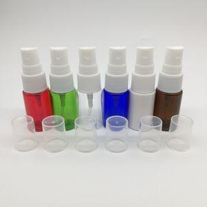 120pcs lot 10ml PET colorful mist spray bottles, plastic empty refillable perfume atomizer container