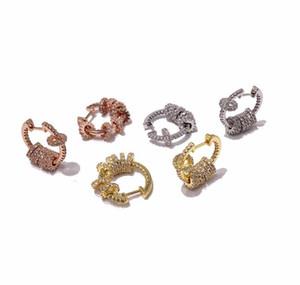 V Stud Ball Fahion Woman Gold Steelengraved Gold Rose Earrings Stainless Earrings 18k Stud Letter For jlllG ffshop2001