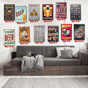 BEER Tin Signs metal Vintage Posters Old Wall Metal Plaque Club Wall Home art metal Painting Wall Decor Art Picture party decor FFA2806 AB