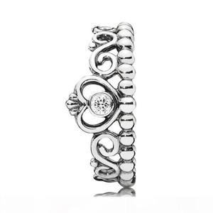 K Authentic 925 Sterling Silver Rings Women Girls Jewelry For Princess Tiara Crown Ring With Original Box Wedding Ring Sets