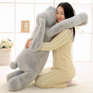 Belle animal géant 90cm 120cm Soft Dessin animé Big Ear Bunny Peluche Peluche Toy Fabbit Fête Cadeau Y1209