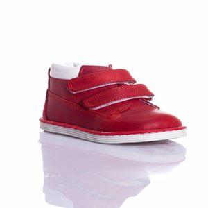 MyWondry Gerçek Deri Kırmızı Bebek Unisex Anatomik İlk Adım Çizmeler W1217
