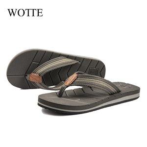 Wotte Sommer Slipper Männer Flip Flops Qualitäts-Strand-Sandalen ablassen Entwurf Schnell trocknend Flip Flops Männer Anti-Rutsch-Schuhschuhe