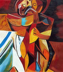Lamitie 1908 - Ручная роспись Pablo Picasso Home Decor Gentcrafts / HD Печать Маслом Картина на холсте Настенное искусство Картинки, F201205