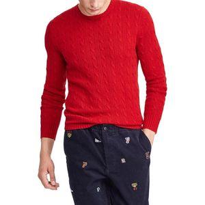 2021 Suéter Hombres Algodón O-cuello Jersey Otoño Invierno Grueso de alta calidad Solid De Yq Ropa de punto Casual Suéter Masculino Pull