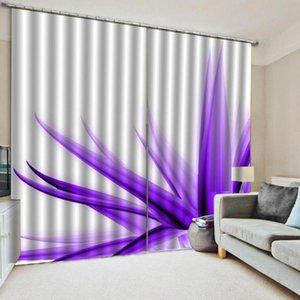 Benutzerdefinierte Vorhänge Purpurrote Blütenblätter 3D Vorhang Drucksperre Polyester Photo Drapes Stoff Für Raumschlafzimmer Fenster Dekor