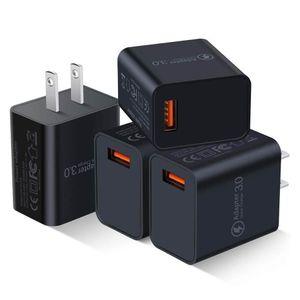 Быстрая заряд 3 .0 USB настенное зарядное устройство 18 Вт QC3 .0 QC Turbo Fast Зарядка адаптера мобильного телефона зарядное устройство для iPhone Samsung Huawei Xiaomi