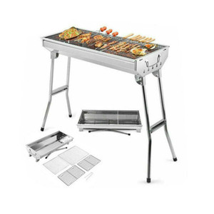 Smokeless Grill Portable Folding Grill Stove Shish Kebab Stainless Steel