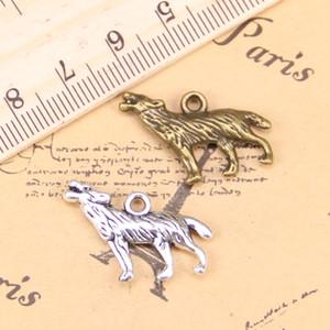 Takı Yapımı Için 54 ADET Charms Howing Wolf 26x20mm Antik Gümüş Kaplama Kolye DIY Tibet Gümüş Bilezik Kolye