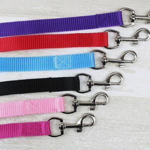 Largeur 1.5cm long 120cm Nylon Laisses pour chiens Pet Puppy formation sangles Noir / Bleu Chiens Ceinture plomb Rope Leash ZA3963