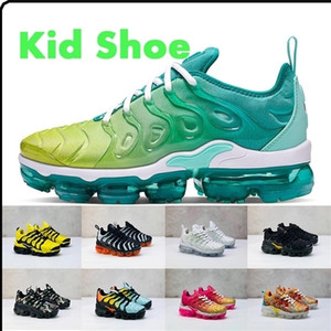 Kids Sports shoes tn plus Baby Boys Girls Childrens trainers sneakers black white blue red summer sunset Kids shoes size 24-35