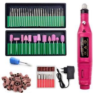 Professional Set Electric Bits Manicure Pedicure Nail Drill Machine Gel Polish Remover Ceramic Tools Q1130