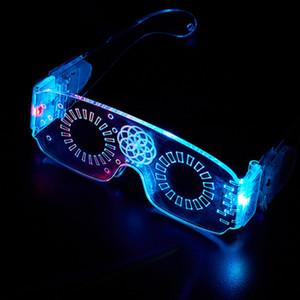 LED светящиеся очки Хэллоуин светящийся неоновая рождественская вечеринка мигающий свет светлый солнцезащитные очки стеклянные бар ночной клуб