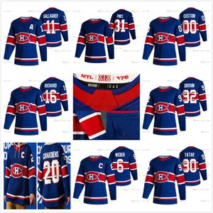 Montreal Canadiens Nick Suzuki 20-21 Invierta Retro Hockey Jersey Hombres Mujeres Jóvenes Kotkaniemi Gallagher Carey Price Shea Weber Jonathan Drouin