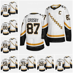 59 Jack Genzel Pittsburgh Penguins 2021 Reverse Retro Jersey 87 Sidney Crosby 71 Evgeni Malkin Teddy Brugg 66 Mario Lemieux Hockey Jerseys