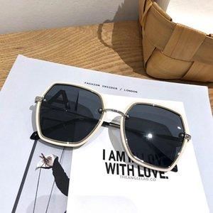 new ins retro round frame sunglasses female tide UV polarized sunglasses glasses wild red Network
