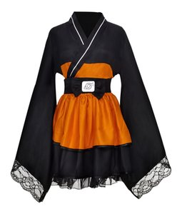 Naruto Cosplay Costume Uzumaki Naruto Lolita Dresses Kimono Women Dress Anime Cosplay Halloween Party Uniforms