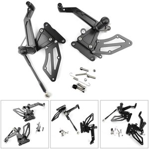 Areyourshop Motorcycle Black CNC Rear Sets Footpegs Footrest Fit for BMW G310R G 310 R 2016 2017 2018 Motorbike Accessories Parts
