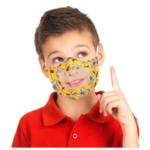 Koruma Çocuklar Sağır Tasarımcı için Aptal Dudaklar için Temizle Pencere Görünür Pamuk Ağız Yüz Maskeleri Yıkanabilir ve Kullanımlık Maske