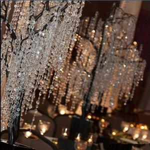 30M / 99FT / Roll14mm Акриловые восьмиугольные бисы чистые Crystal Girland Strands для свадебных украшений люстра бесплатная доставка