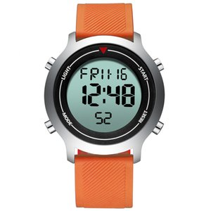 mens digital watches BIDEN brand waterproof sports man wristwatch Chronograph calendar week men's watch orange green black