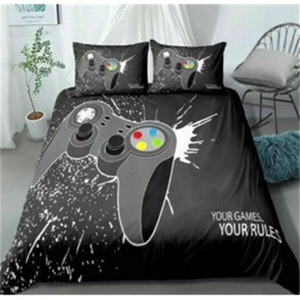 New Style Play Game Printed 3 PCE Bedding 3D Printing Quilt Cover and Pillowcase Bed Sheet Sets No Sheets Z1126