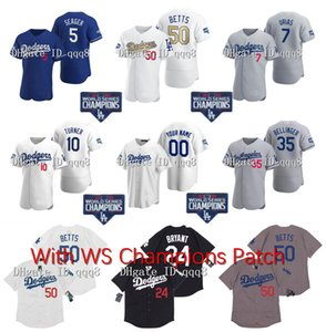 2020 WS Champions LA Mookie Betts Baseball Jersey Julio Urias Men Kids Women Cody Bellinger Clayton Kershaw Corey Seager Justin Turner Muncy
