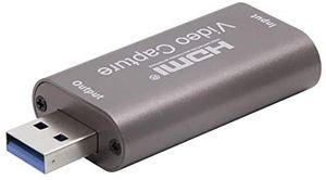 Улучшенные карты захвата видео, HDMI Capture Card 1080P 60fps, USB Ultra High Speed USB для игр, потоковая передача совместимых с Nintendo Switch
