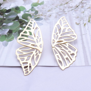 Hot Sale Hollow Big Butterfly Stud Earring for Women Metal Angel Wing Pendant Earrings Statement Jewelry Party Christmas Gift PPD3310