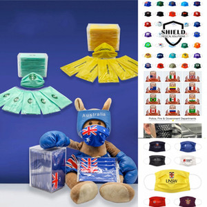 Can be Customize Designer Disposable Mask 2021 Happy New Year Football Christmas Dustproof Sports Washable Resuable Party Mouth Masks Cover