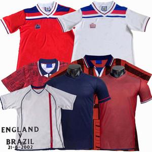 1980 89 1990 94 96 98 2002 Beckham Scholes Owen Heskey Maillot de football FOWLER GASCOIGNE Heskey FERDINAND Gerrard KEEGAN cru football shirt
