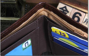 HBP Marka Vintage Mens Cüzdan Güzel Bifold Kahverengi PU Deri Para Kavramalar Çanta Ünlü Kalite Siyah Walle