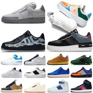 nike air force 1 airforce one af1 forces shoes n354 shodow 섀도우 리 액트 러닝 슈즈 Chaussures Be True Skeleton womens mens trainers sports sneakers Platform