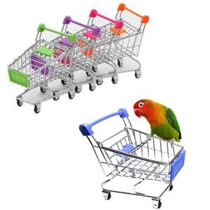 Creative Mini Rays Candcart Simulation Bird Parrot Hamster Игрушка Маленький Супермаркет Корзина Играть Дом Игрушки