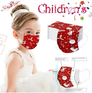kids Masks Christmas Masks Disposable Mask 50pcs 3-Layer Face Mask Protection and Personal Health Mask X'mas